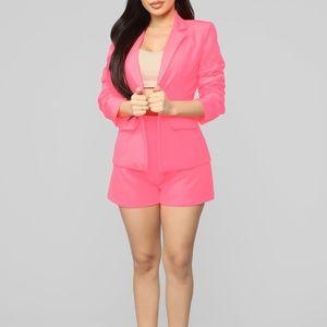Neon Pink Suit Set